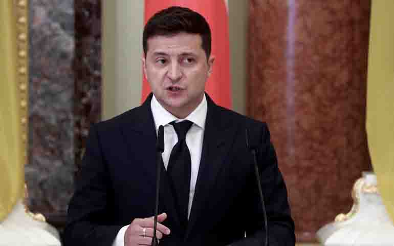 Ukrainian president addresses nation being taken to clinic with COVID-19